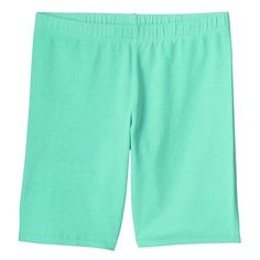 Girls 7-16 & Plus Size SO® Solid Midi Bike Shorts, Size: 14 1/2, Turquoise/Blue (Turq/Aqua)