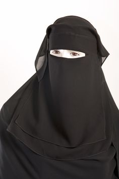3 pieces tie back niqab with eyes fent