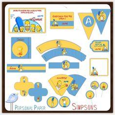 Kit personalizado para festa dos Simpsons: http://appersonalpaper.blogspot.com.br/