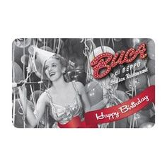 Buca di Beppo Happy Birthday Gift Card $100.00