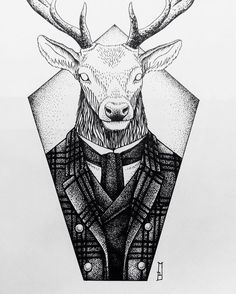 #deer #deerart #suit #fashion #drawing #londonfashion #animal #animallover #art #londonart #londonartist #stronghold #strongholdtattoo #design #dotwork #dots #shoreditchart #shoreditchtattoo #newdesign #newtattoo #vegan #vegetarian #iblackwork