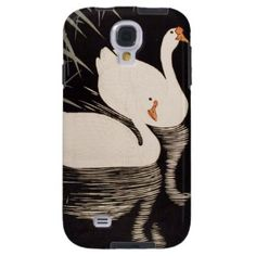 SOLD! - Classic vintage japanese ukiyo-e white swan pond Case-Mate Vibe Samsung Galaxy S4 Case #classic #vintage #ukiyo-e #white #swan #pond #case #samsung #ga;axy #s4 #cover #Japan #art #oriental #gift