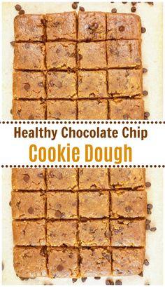 Healthy Raw Vegan Chocolate Chip Cookie Dough | Daily Vegan Meal