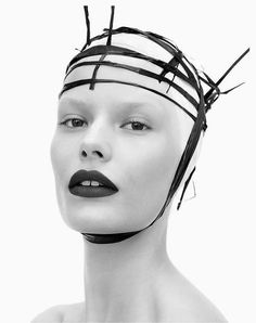 Headpiece and Makeup by Francelle for The Last Magazine, FW 2014...  #editorial #nuno #photography #danieljackson #model #alenablohm #hair #makeup #francelledaly #source #thelastmagazine