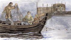 Vanajavedellä kalastusta muinaisaikoina. Hämeenlinnasta paljastui arkeologinen jymy-yllätys: Merkkejä asutuksesta liki 3 000 vuoden takaa.