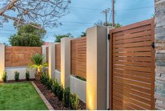 Knotwood fencing is east to install, rust free, strong and yet light! Check out our website for more info 🖥 This fence was installed by… House Fence Design, Modern Fence Design, Home Exterior Makeover, Exterior Remodel, Balustrade Balcon, Compound Wall Design, Garden Fence Panels, Weekend House, Rust Free