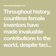 Throughout history, countless female inventors have made invaluable contributions to the world, despite facing gender-based discrimination.