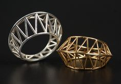 Star+Cage+Ring by Maria+Eife: Gold+or+Silver+Ring available at www.artfulhome.com
