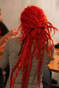 Find images and videos about red, dreads and dreadlocks on We Heart It - the app to get lost in what you love. Dread Hairstyles, Cool Hairstyles, Dreads Girl, Hippie Dreads, Beautiful Dreadlocks, Dreads Styles, Synthetic Dreads, Natural Hair Styles, Long Hair Styles