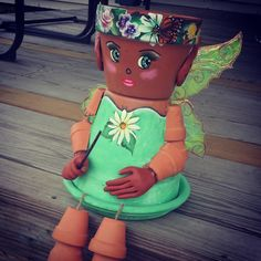 Hey, I found this really awesome Etsy listing at https://www.etsy.com/listing/194377779/garden-fairy-flower-pot-head