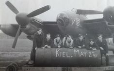 Photograph discovered of a bomb being loaded on to an RAF Mosquito before   Bomber Command's last raid of WW2