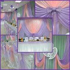 Источник интернет Wedding Stage Backdrop, Wedding Draping, Backdrop Decorations, Wedding Decorations, Wall Drapes, Tutu Table, Modern Flower Arrangements, Head Tables, Cinderella Wedding