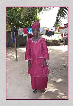 Woman in Gambian traditional dress.