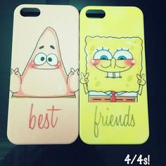Cute Patrick and Spongebob Best Friends Case available for Iphone 4/4S/5/5S/5C/S3/S4/Note 3! on Etsy, $20.32