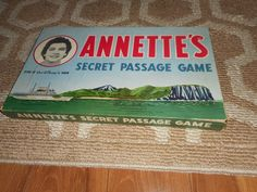 1958 Annette's Secret Passage Vintage Board Game Complete Parker Brothers Disney