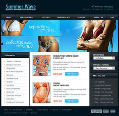 Swimwear Collection ZenCart Templates by Astra