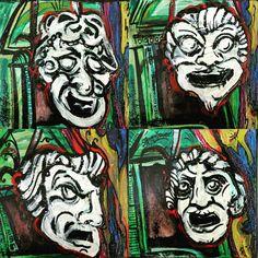 Tragèdia / Essere e Apparire attanagliano. Espressioni egee che conducono verso il palco dell'Anima. #LuoghiPensanti