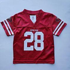 Carlos Hyde San Francisco 49ers Team Jersey Red Kids 18M #NFL Custom Football, Men's Football, Patriots Team, Lion Shirt, Nfl San Francisco, Nfl Team Apparel, Hyde, Boys, Clothing