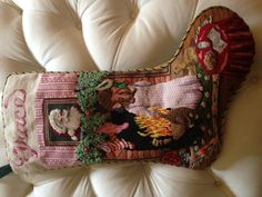 Decoration: Cool Needlepoint Christmas Stockings And White Pillow . Holiday Decorating, Christmas Decorations, Needlepoint Christmas Stockings, Santa Ornaments, White Pillows, Houston, Diaper Bag, Needlework, Merry