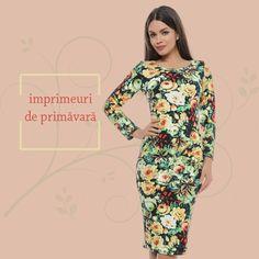Descoperă imprimeurile florale de primăvară ale rochiei R262, bestseller-ul Adrom Collection. http://www.adromcollection.ro/50-rochie-angro-r262.html