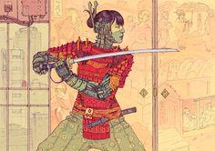 Sci-Fi, Distopia e Cyberpunk: Conheça a arte de Josan Gonzalez Arte Cyberpunk, Arte Sci Fi, Sci Fi Art, Samurai Girl, Art Science Fiction, Pulp Fiction, Arte Ninja, New Retro Wave, Sci Fi Comics