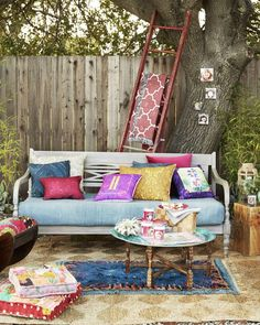 Our Global Oasis Outdoor Room is a space that transports bright, unique accents and personalized touches. | Shutterfly