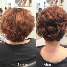 18 Updo Hairstyles for Short Hair -Wavy Updo Hairstyle