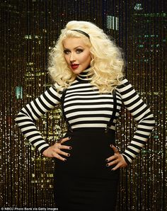 Comeback girl: Christina Aguilera certainly looks to be ready to return to primetime TV in new promotional photos for The Voice Christina Aguilera The Voice, The Voice 2015, Sawyer Fredericks, Beautiful Christina, New Mums, Season 8, Body Image, American Singers, My Idol
