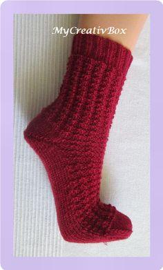 """Socken """"Eiszeit"""" für Gr. 32-47, Anleitung von MyCreativBox, gestrickt mit Sockenwolle 4-fach"""