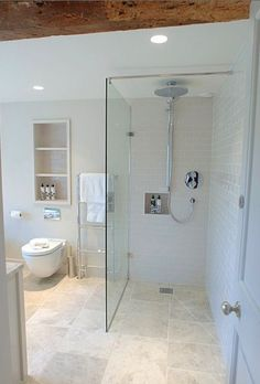 Love the rain shower head without having to plumb from above!!