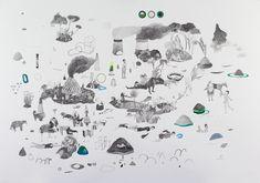Hélène Duclos - Constatations #2 - 2017 - mine graphite et gouache sur papier - 70 x 100