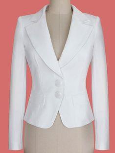 Two Buckle Slim Fit Short Peplum Blazer Fall Blazer, Peplum Blazer, Couture Dresses, Fashion Dresses, Blazer Jackets For Women, Blazer Fashion, Sammy Dress, Dress Suits, Work Attire
