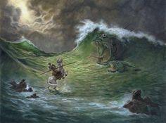 """La """"Batalla en el Mar"""" de don Quijote. Podría entrar en """"humano y animal"""", ¿no?"""