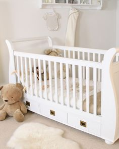 This gorgeous cot bed is simply stunning, but it is offers more than just great looks. Thanks to the ingenious design, this children's cot bed is actually three pieces of furniture in one. As your child gets older, the cot can be transformed easily from a cot into a stunning child's sleigh bed. When your child has outgrown the bed, it can then be converted into a practical day bed. Only £449!
