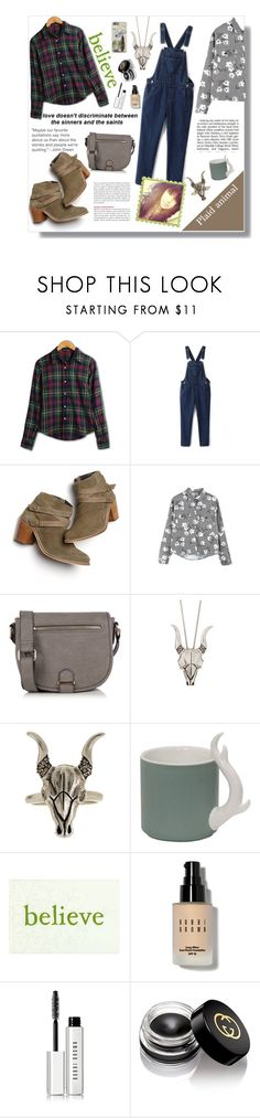 """Bridget"" by artistic-biscuit ❤ liked on Polyvore featuring Monsoon, WithChic, Oasis, House of Harlow 1960, Imm Living, Bobbi Brown Cosmetics, Gucci and vintage"