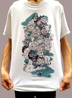 Weird Illustration Shirt Line Drawing Shirt Grunge by SloClo