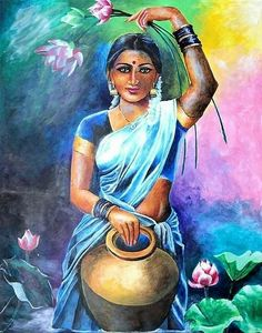 Rajasthani Painting, Rajasthani Art, Indian Folk Art, Indian Artist, Girl Drawing Sketches, Art Drawings, Art Painting Gallery, India Art, Indian Art Paintings