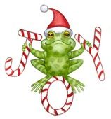 Thumb - My list of the most beautiful animals Christmas Rock, A Christmas Story, Christmas Crafts, Funny Frogs, Cute Frogs, Christmas Clipart, Christmas Printables, 2 Clipart, Frog Illustration