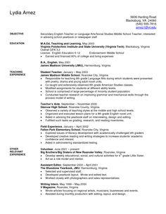 art teacher resume examples sample secondary teacher resume