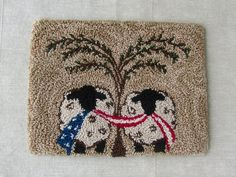 Rug Hooking Designs, Rug Hooking Patterns, Punch Needle Kits, Punch Needle Patterns, Primitive Embroidery, Weavers Cloth, Hand Work Embroidery, Primitive Crafts, Primitive Country