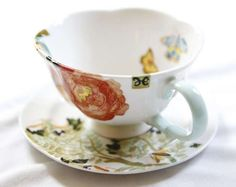 This is my Ann Hesse teacup ~ I found it at Anthropologie
