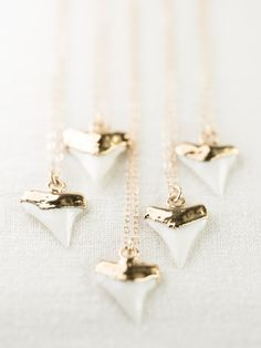 Manonihokahi necklace gold shark tooth necklace by kealohajewelry