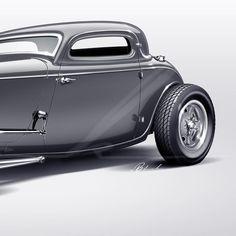 The Halabura Coupe. @whalabura @byrons69 #eBlackDesignCo #EndlessPursuitOfTheTimeless #HopUpLive #HotRodsRule