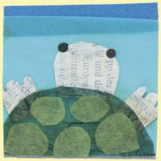 Cute turtle colllage for I'll Follow the Moon by Stephanie Lisa Tara (or a tutle/reptile unit)