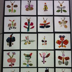 Magazine clipping butterflies by my Kindergarten class! I just love them!
