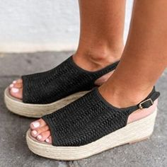 26 Best Wedge Sandals images in 2020 | Wedge sandals