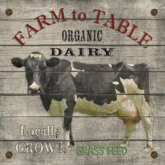 Farm To Table Art Print by Jean Plout. All prints are professionally printed, packaged, and shipped within 3 - 4 business days. Vintage Farm, Vintage Diy, Vintage Labels, Vintage Signs, Vintage Posters, Vintage Ideas, Deco Champetre, Etiquette Vintage, Motifs Animal