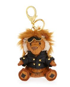 Visetos+Moto+Lion+Key+Ring/Bag+Charm,+Cognac+by+MCM+at+Neiman+Marcus.