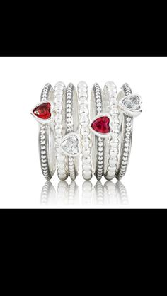 Gorgeous pandora rings! I want one! Or two :P
