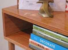 Janery Red Oak DIY Midcentury Hall Table